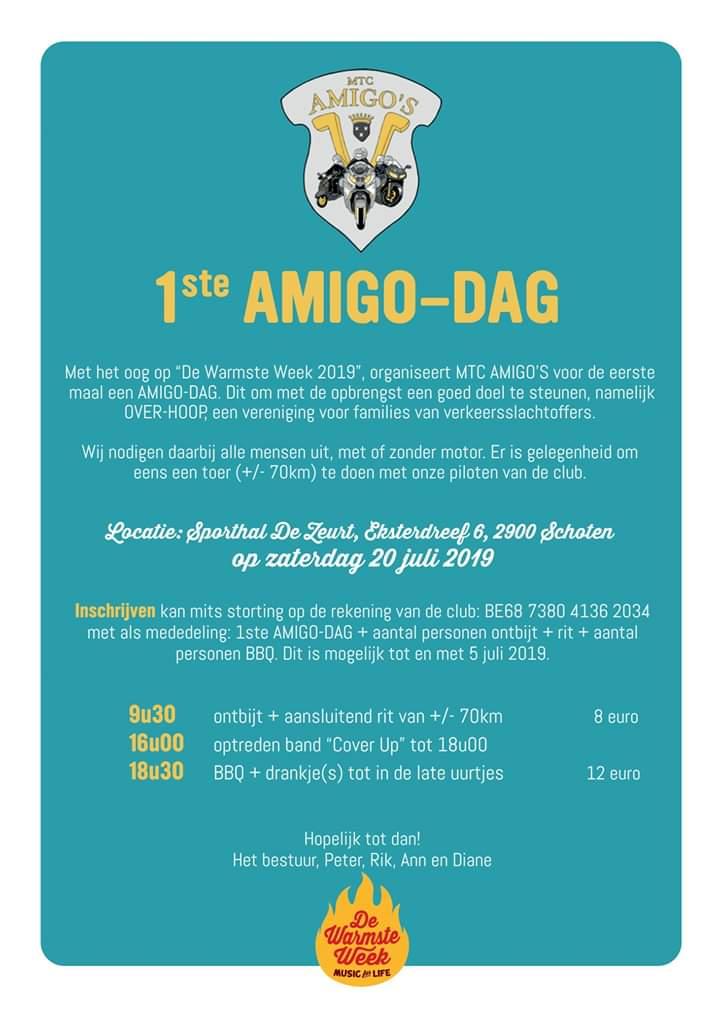 Flyer eerste amigo-dag